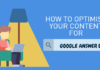 How To Optimise Your Content For Google Answer Box / Zero Rank