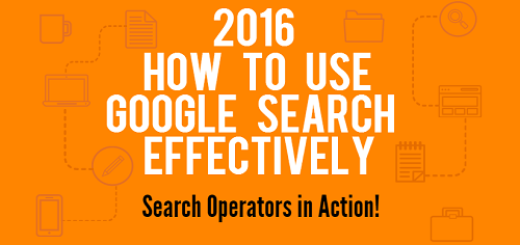 use google search operator effectively